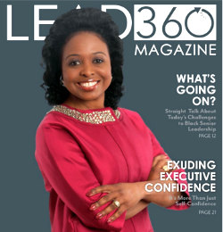 Dr. Shirley on cover of 360 Magazine.