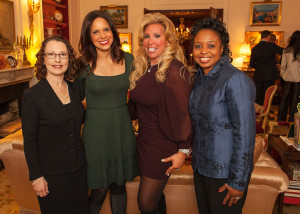 Meeting Soledad O'Brien at a private event after speaking on Global Women's issues in NYC