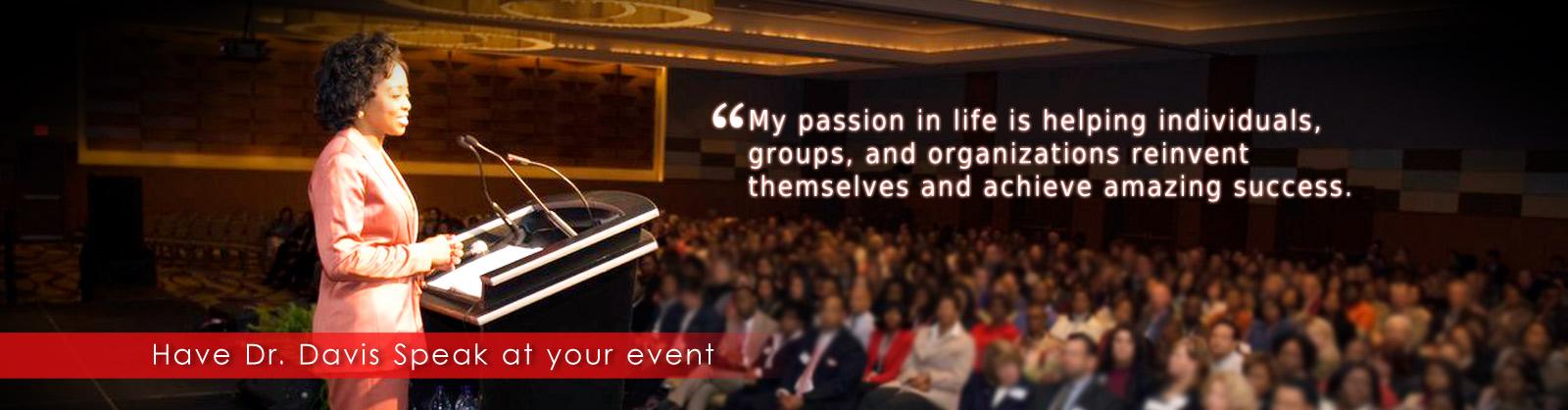 Have Dr. Davis speak at your event