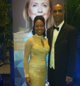 Dr. Shirley with her Husband at a formal event