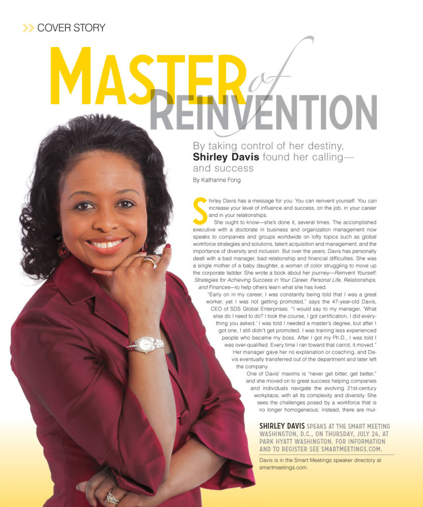 Smart Magazine cover Story on Dr. Shirley Davis