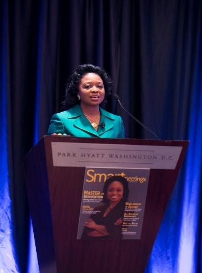 Dr. Shirley at podium